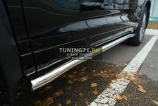 Toyota Highlander 2014- Пороги труба d63 (вариант 3) THRT-001922